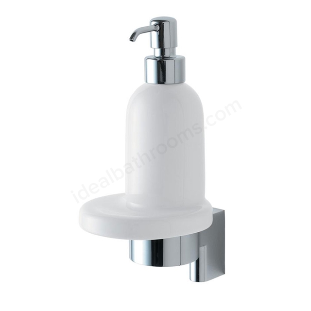 Ideal Standard CONCEPT Ceramic Soap Dish & Holder, Chrome/White