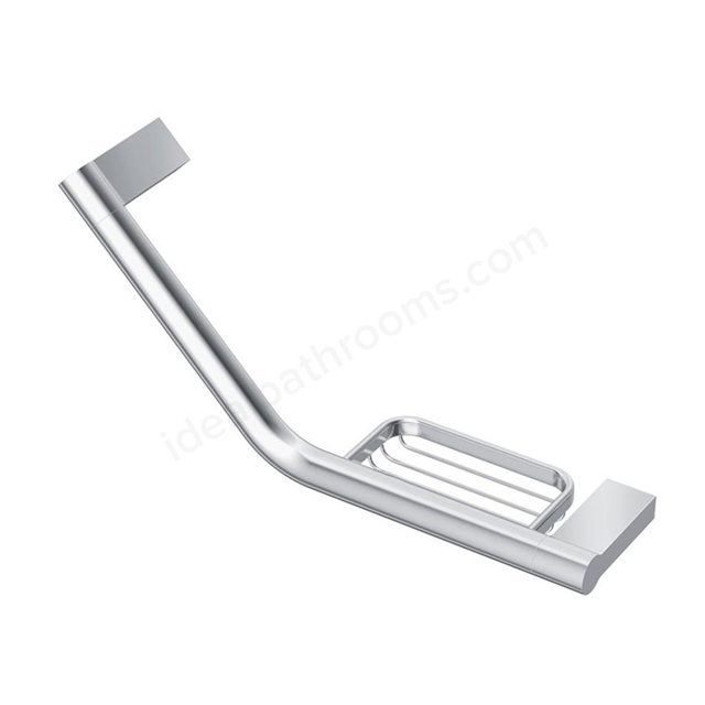 Ideal Standard CONCEPT Grab Rail with Soap Basket; Chrome