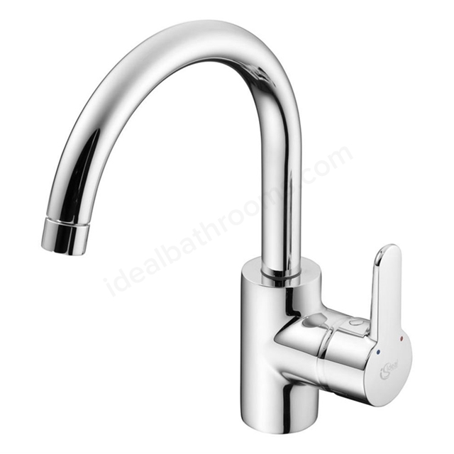 Ideal Standard CONCEPT Blue Kitchen Mixer Tap, 1 Tap Hole, Chrome