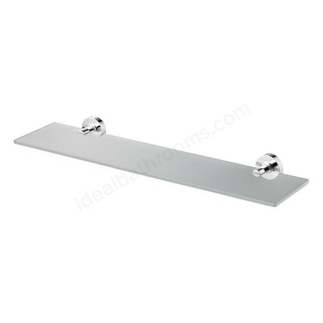 Ideal Standard IOM 600mm Shelf; Frosted Glass; Chrome