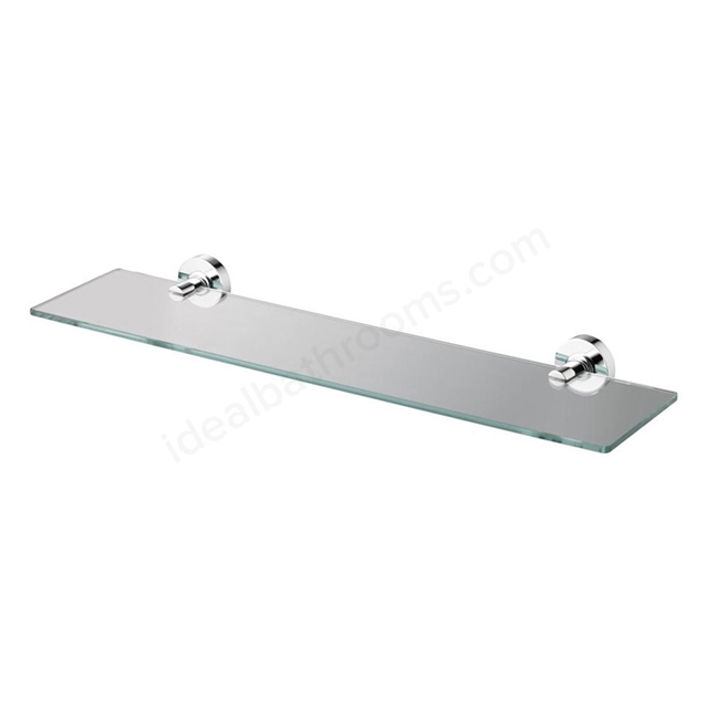 Ideal Standard IOM 600mm Shelf; Transparent Glass; Chrome