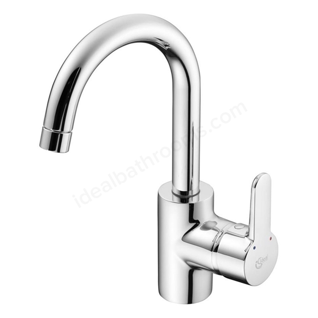 Ideal Standard CONCEPT Blue Single Lever Basin Mixer with Tubular Spout