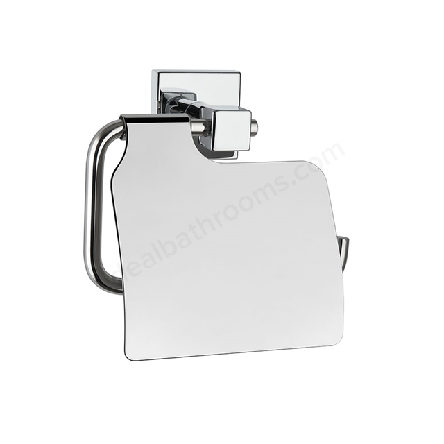 Vitra Q-LINE Toilet Roll Holder with Cover, Chrome