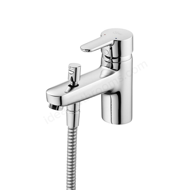 Ideal Standard CONCEPT Blue Bath Shower Mixer Tap, Includes Shower Kit, 1 Tap Hole, Chrome