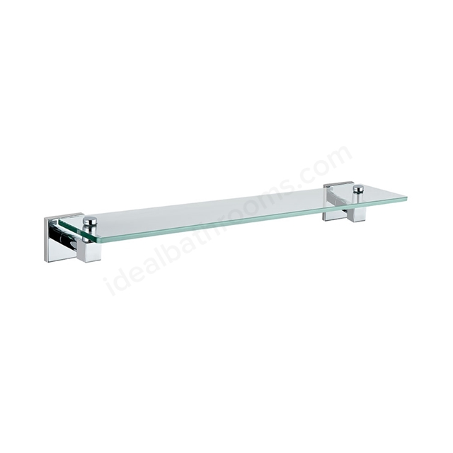 Vitra Q-LINE Glass Shelf, Chrome