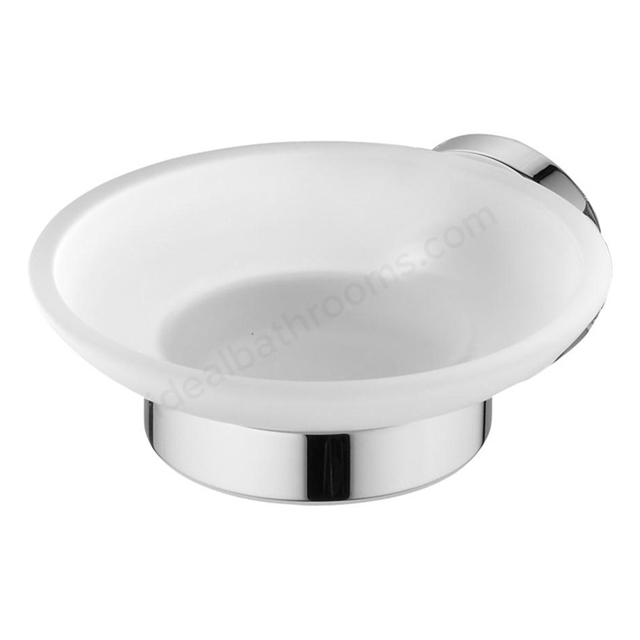 Ideal Standard IOM Soap Dish & Holder - Frosted Glass, Chrome