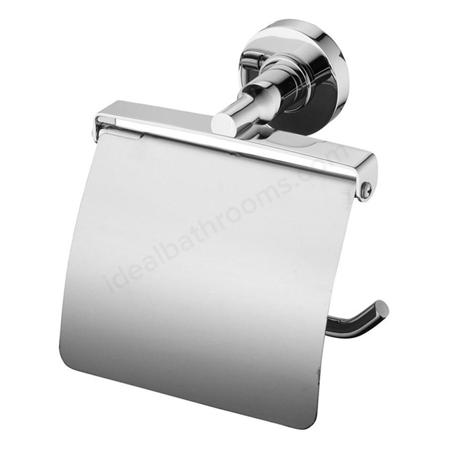 Ideal Standard IOM Toilet Roll Holder with Cover, Chrome