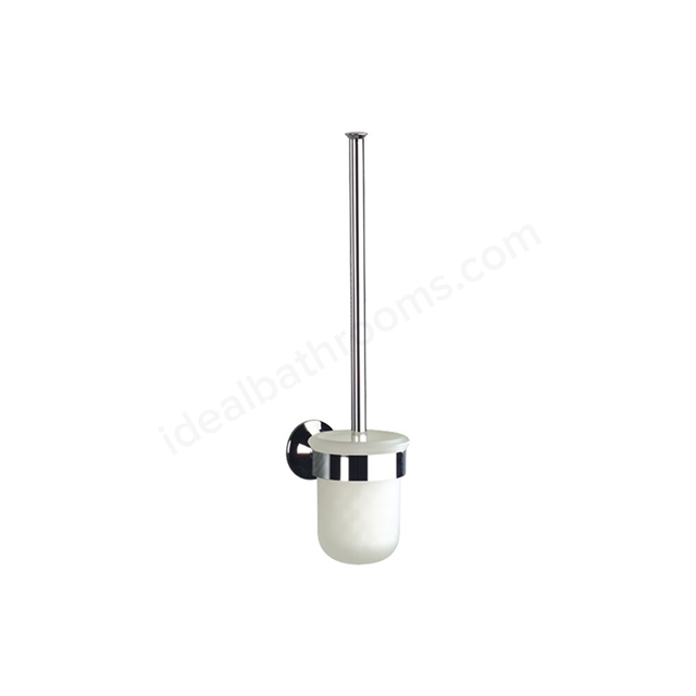 Roca HOTEL'S Wall-Mounted Toilet Brush + Holder; Chrome