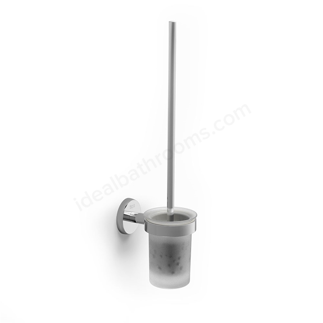 Roca TWIN Toilet Brush Holder; Chrome