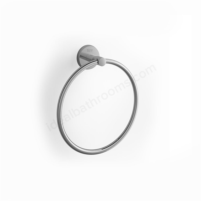 Roca TWIN Towel Ring; Chrome