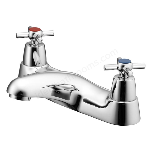 Ideal Standard ELEMENTS Bath Filler Tap; with Cross Handles; 2 Tap Hole; Chrome