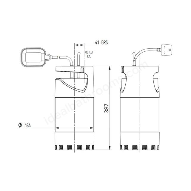 Stuart Turner DIVER 45 - Submersible Pump | Ideal Bathrooms