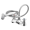 Ideal Standard ELEMENTS Bath Shower Mixer Tap; with Cross Handles; Includes Shower Kit; 2 Tap Hole; Chrome