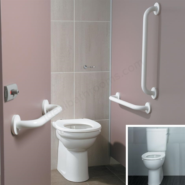Armitage Shanks CONTOUR 21 Close Coupled Pack with White Rails and White Seat (No Basin); White