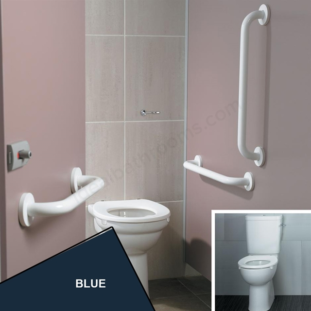Armitage Shanks CONTOUR 21 Close Coupled Pack with Blue Rails and Blue Seat (No Basin); Blue