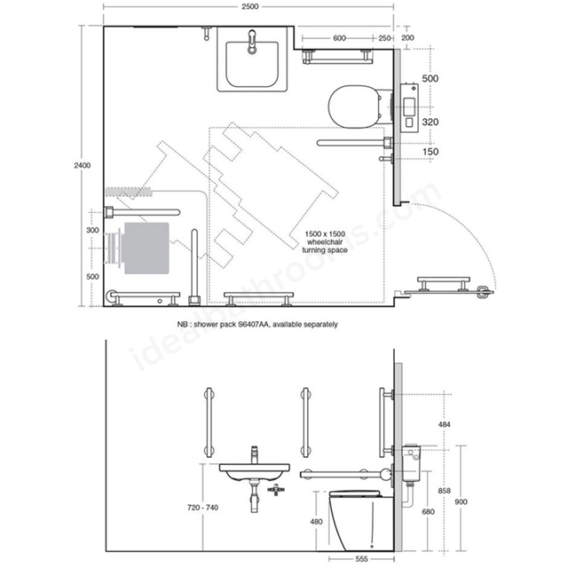 Ideal Standard Concept Freedom Ensuite Doc M Shower Pack Ideal Bathrooms