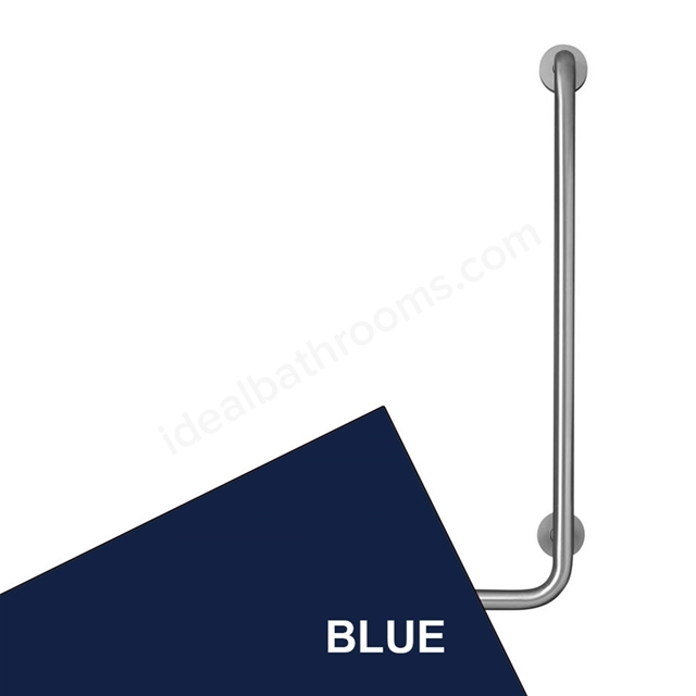 Armitage Shanks CONTOUR 21 Angled Shower Grab Rail, Right Handed, 900x400mm, Blue
