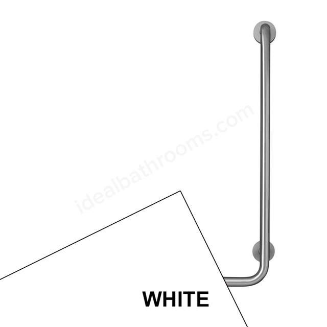 Armitage Shanks CONTOUR 21 Angled Shower Grab Rail, Right Handed, 900x400mm, White