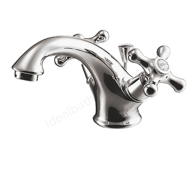 Ideal Standard KINGSTON Basin Mixer Tap, Dual Control, with Pop Up Waste, 1 Tap Hole, Chrome