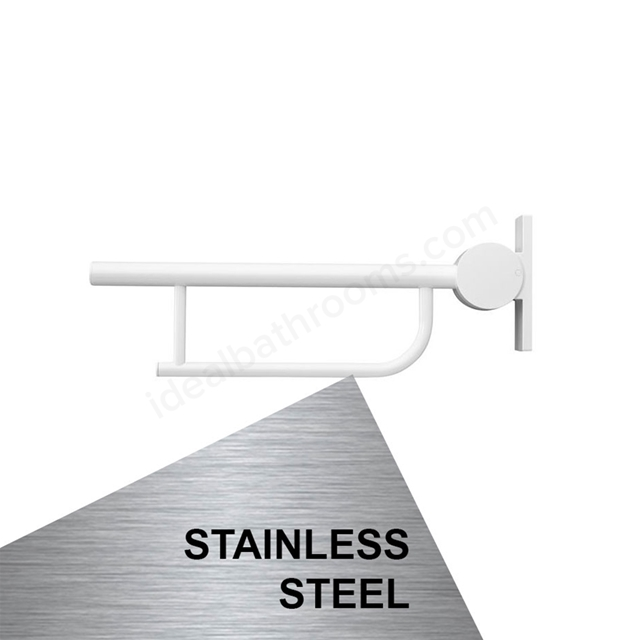 Armitage Shanks CONTOUR 21 Screw to Wall Hinged Support Arm, 650mm Long, Stainless Steel