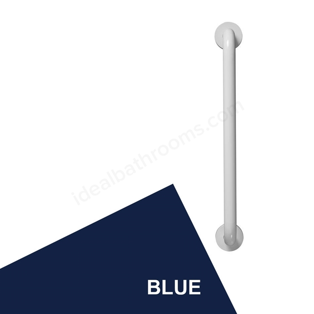 Armitage Shanks CONTOUR 21 Straight Grab Rail, 800mm Long, Blue