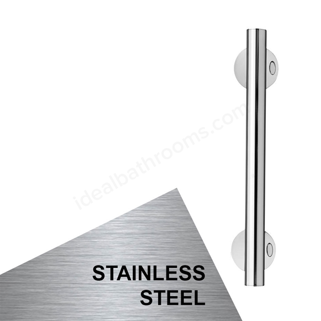Armitage Shanks CONTOUR 21 Straight Grab Rail, 450mm Long, Stainless Steel