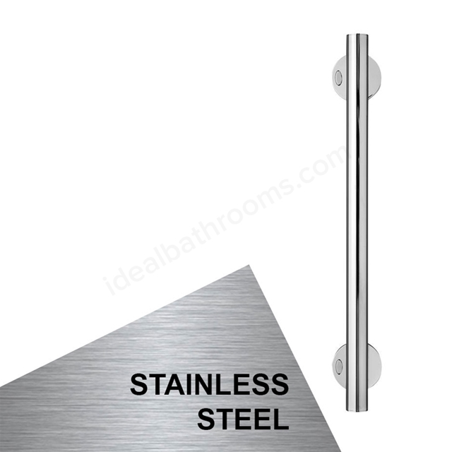 Armitage Shanks CONTOUR 21 Straight Grab Rail, 600mm Long, Stainless Steel