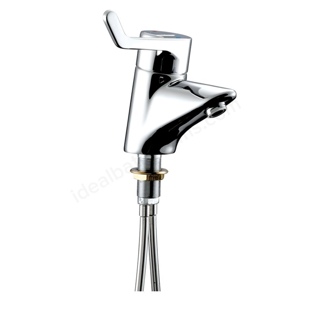 Armitage Shanks CONTOUR 21 Single Lever Sequential Thermostatic Basin Mixer, Copper Tails, No Waste, 1 Tap Hole , Chrome
