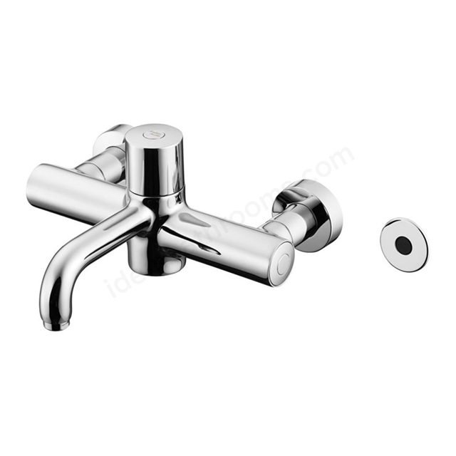 Armitage Shanks MARKWICK Wall Mounted Electronic Thermostatic Basin/Sink Mixer, Time Flow Level Sensor, Armitage Bio-Guard Outlet, Chrome