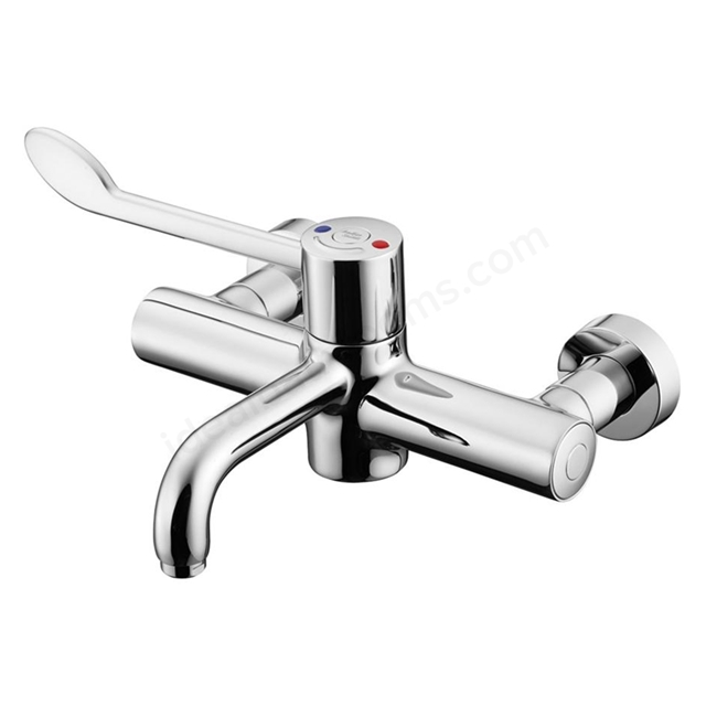 Armitage Shanks MARKWICK Wall Mounted Sequential Thermostatic Basin/Sink Mixer, Armitage Bio- Guard Outlet, Chrome