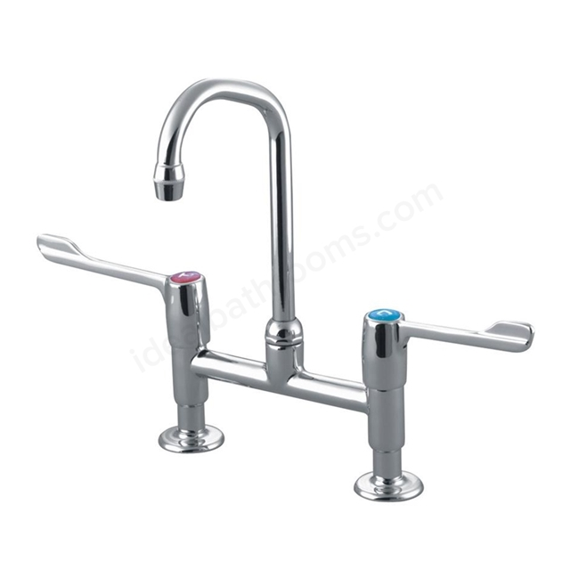 Armitage Shanks MARKWICK Dual Control Swivel Anti Splash Spout Pillar Basin/Sink Mixer, 150mm Levers, 2 Tap Hole , Chrome