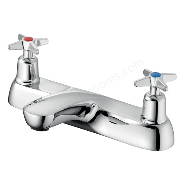 Armitage Shanks SANDRINGHAM 21 Bath Filler with Crossheads, 2 Tap Hole, Chrome