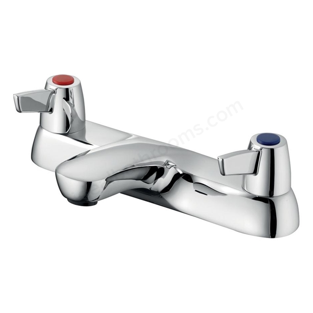 Armitage Shanks SANDRINGHAM 21 Bath Filler Tap with Levers, 2 Tap Hole, Chrome