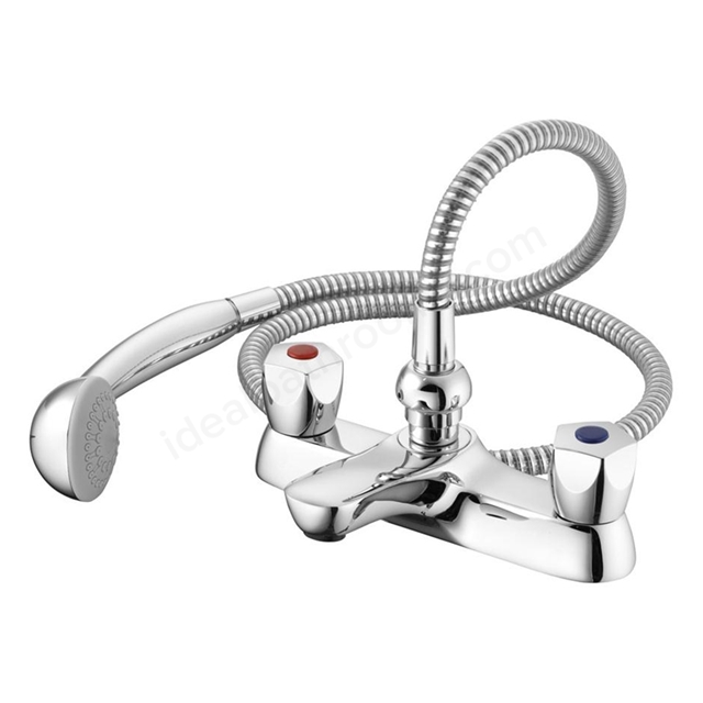 Armitage Shanks SANDRINGHAM 21 Bath Shower Mixer, 2 Tap Hole, Chrome