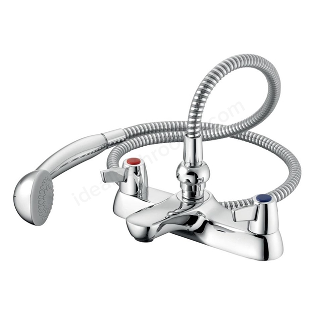 Armitage Shanks SANDRINGHAM 21 Bath Shower Mixer Tap with Levers, 2 Tap Hole, Chrome