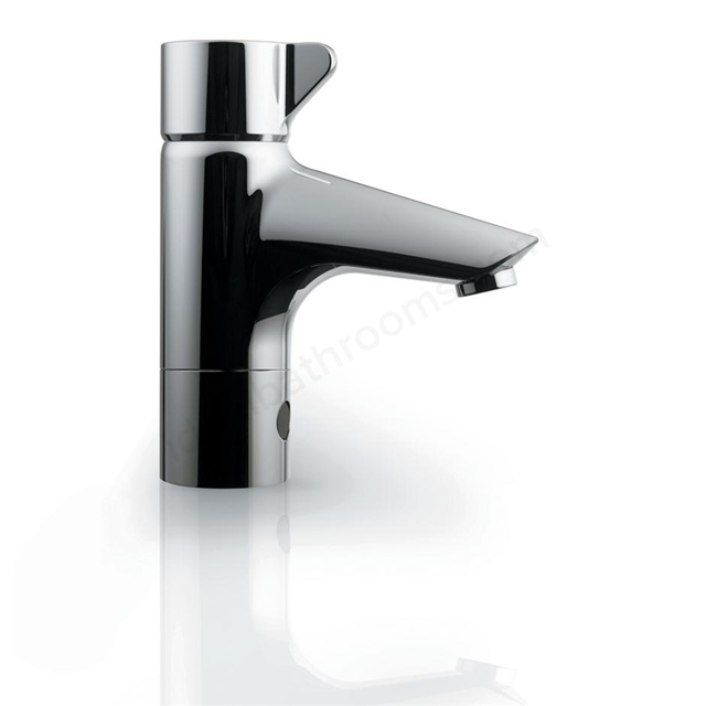 Armitage Shanks SENSORFLOW 21 1 Tap Hole Basin Mixer with Built-in Electronic Sensor - Ability to Change Temperature - Mains; Brushed Stainless Steel