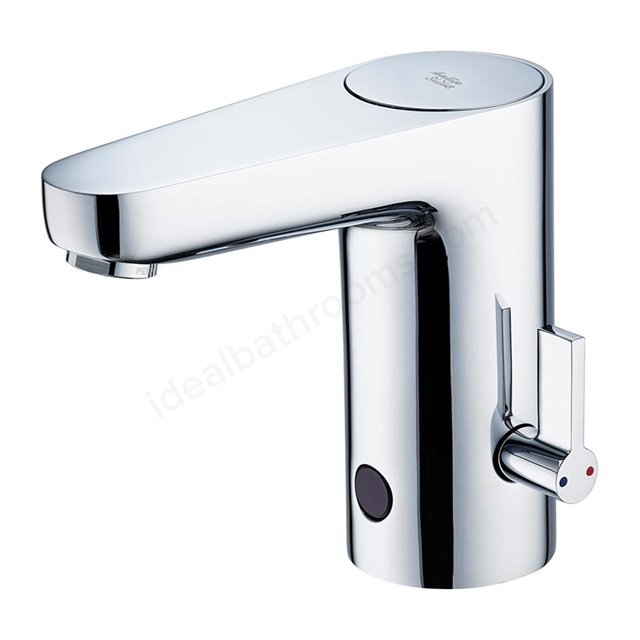 Armitage Shanks SENSORFLOW WAVE Basin Mixer Rim Mounted with Temperature Control, Battery Powered, Chrome