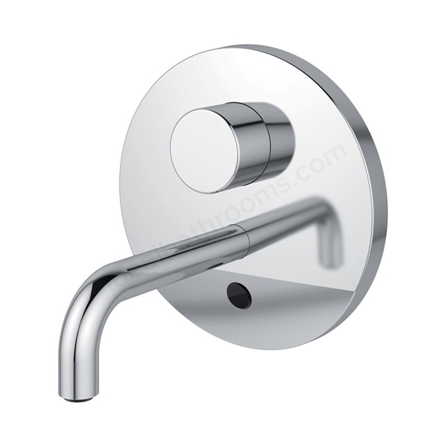 Armitage Shanks SENSORFLOW WAVE Thermostatic Basin Mixer Wall Mounted 150mm Spout without User Adjustment; Battery Powered; Chrome