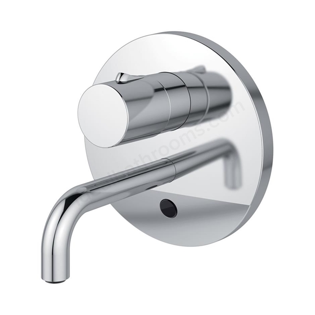 Armitage Shanks SENSORFLOW WAVE Thermostatic Basin Mixer Wall Mounted 150mm Spout with Temperature Control, Battery Powered, Chrome
