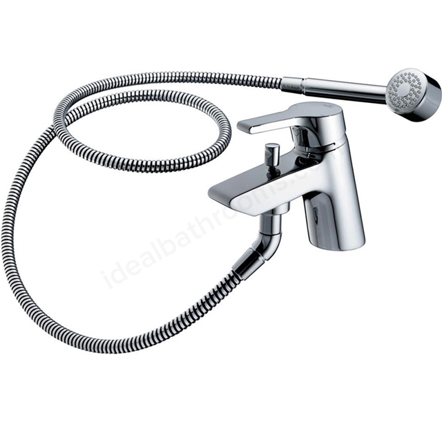 Ideal Standard ACTIVE Bath Shower Mixer Tap, Includes Shower Kit, 1 Tap Hole, Chrome