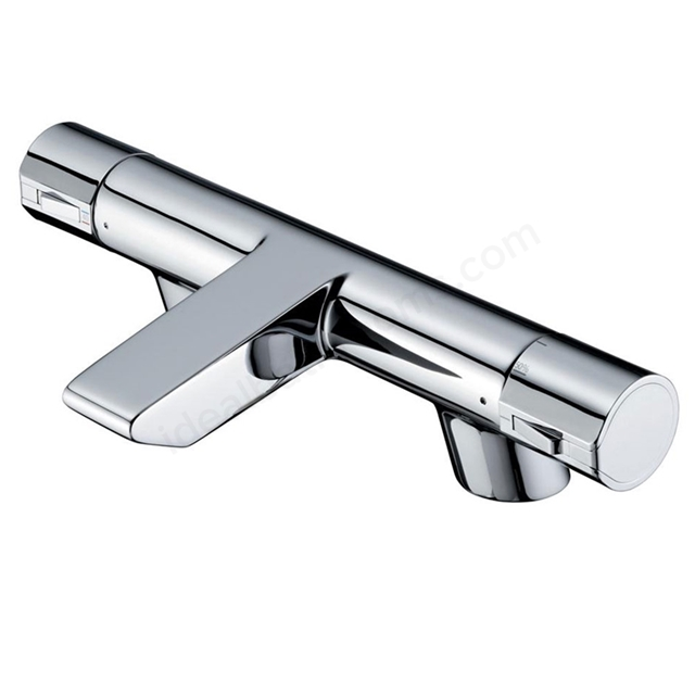 Ideal Standard ACTIVE Bath Filler Tap; Thermostatic; 2 Tap Hole; Chrome