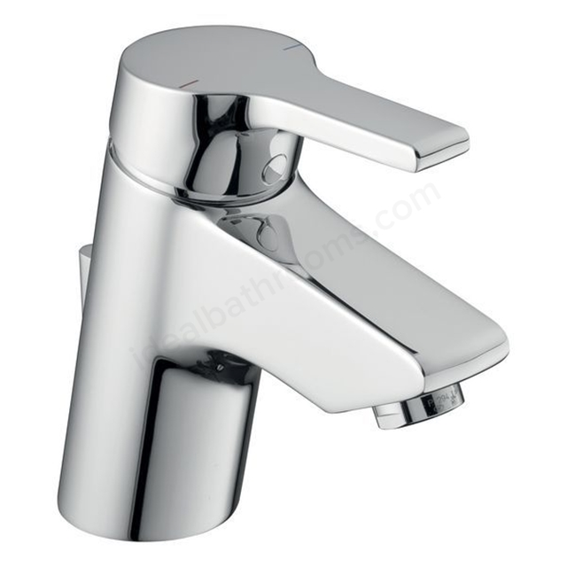 Ideal Standard ACTIVE Blue Basin Mixer Tap; with Pop Up Waste; 1 Tap Hole; Chrome
