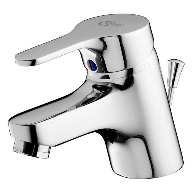 Ideal Standard ALTO Basin Mixer Tap; For Low Pressure; with Pop Up Waste; 1 Tap Hole; Chrome