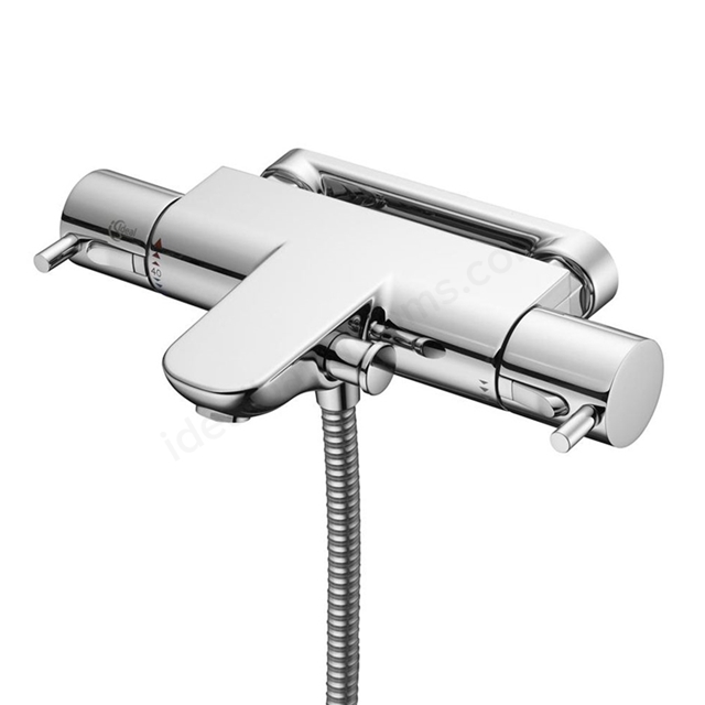 Ideal Standard ALTO Ecotherm Bath Shower Mixer Fast Fix Wall Bracket Dual Control, Chrome