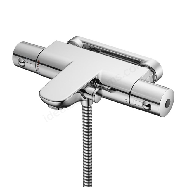 Ideal Standard ALTO Wall Bath Shower Mixer Tap, Thermostatic, No Shower Kit, Chrome