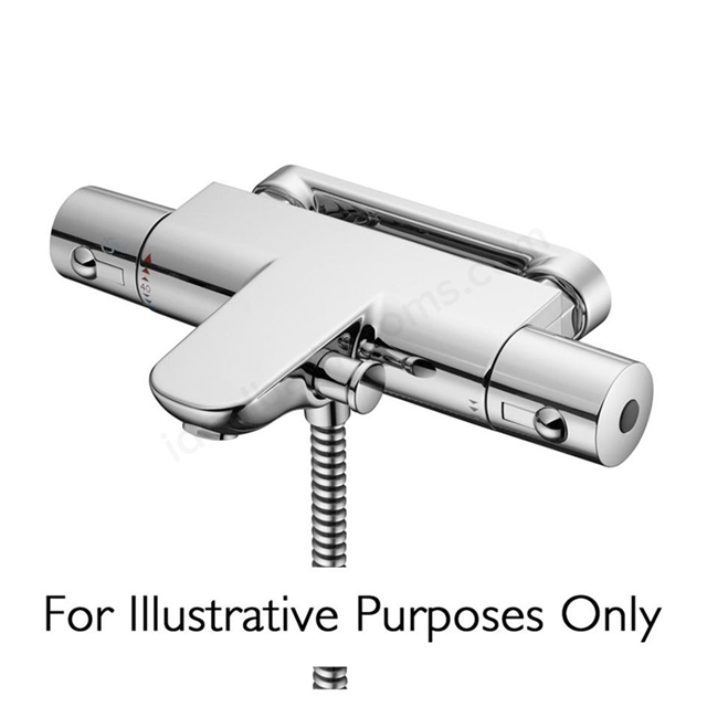 Ideal Standard ALTO Bath Shower Mixer Tap, Thermostatic, No Shower Kit, 2 Tap Hole, Chrome