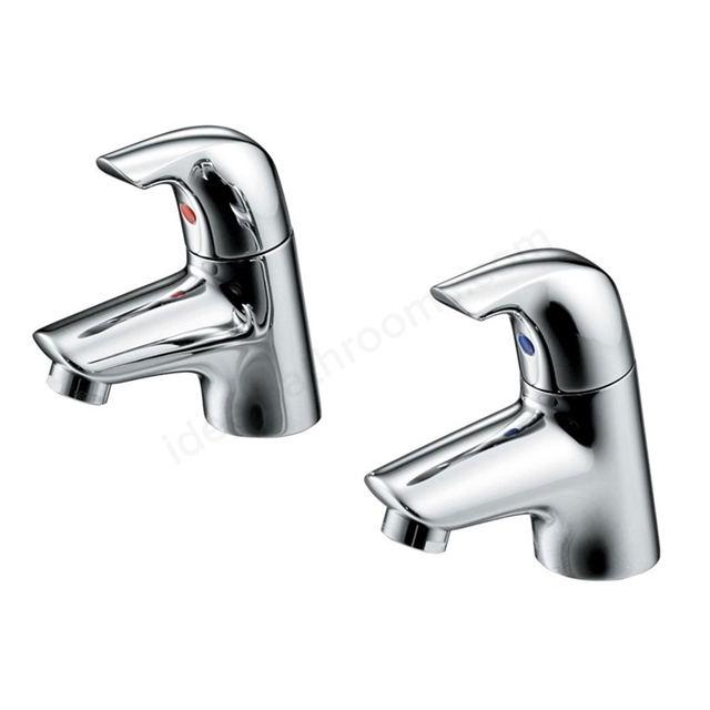 Ideal Standard CERAPLAN Basin Pillar Taps (Pair), Chrome