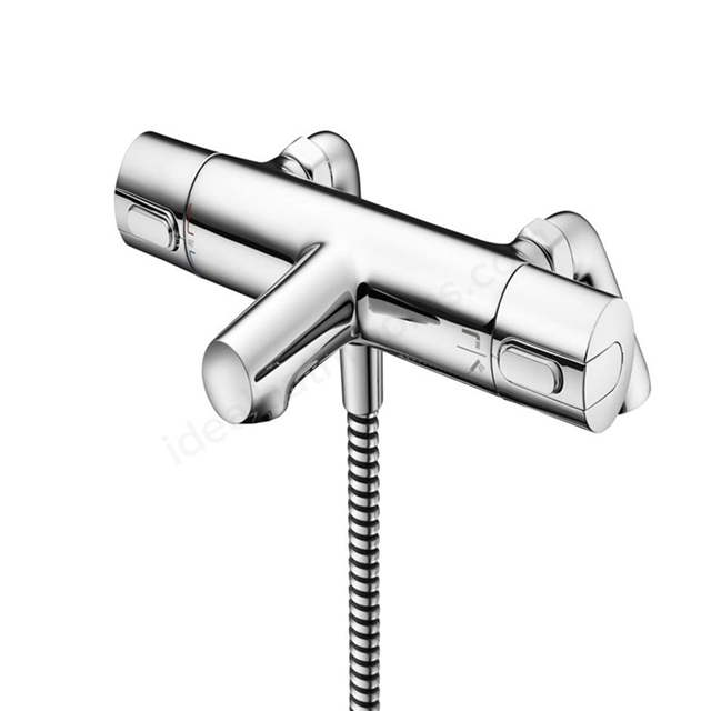 Ideal Standard CERATHERM 100 Bath Shower Mixer Tap, Thermostatic, 2 Tap Hole, Chrome