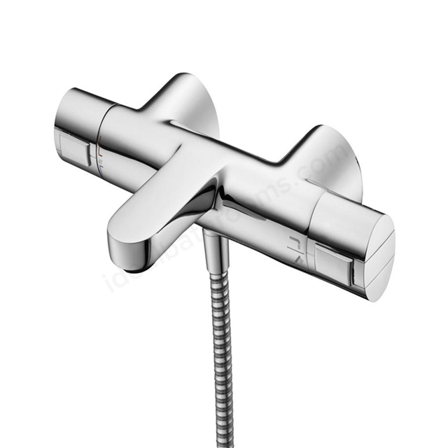 Ideal Standard CERATHERM 200 Exposed Thermostatic Bath Shower Mixer Wall Mounted, Chrome