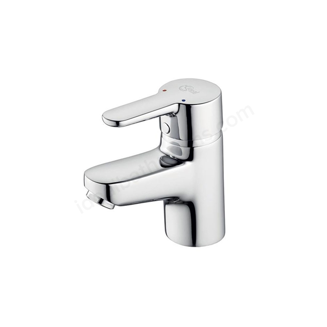 Ideal Standard CONCEPT Blue Small Basin Mixer Tap, No Waste, 1 Tap Hole, Chrome